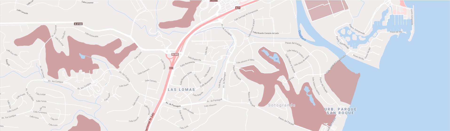 Mapa de localización, Inmobiliaria Sotogrande Properties by Goli